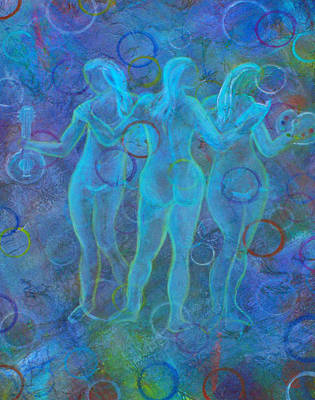 The Three Muses Art Print by The Art With A Heart By Charlotte Phillips