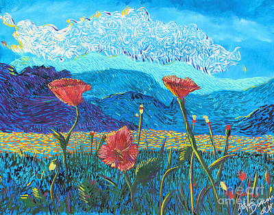 Painting - The Three Poppies by Stefan Duncan