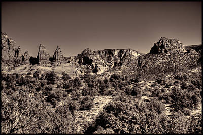 Photograph - The Three Sisters Sedona Arizona by Roger Passman