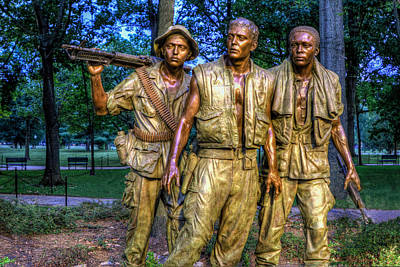 Outerspace Patenets Rights Managed Images - The Three Soldiers Facing the Wall Royalty-Free Image by Jerry Gammon