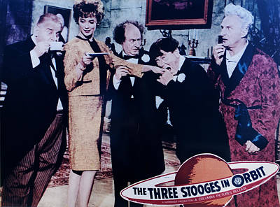 The Three Stooges In Orbit Art Print by Official Three Stooges