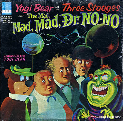 Three Stooges Photograph - The Three Stooges Meet The Mad Mad Mad Dr No No by Official Three Stooges