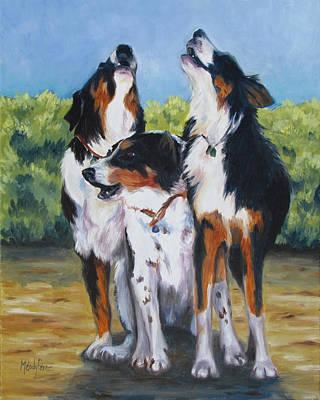 Melody Perez Painting - The Three Tenors by Melody Perez