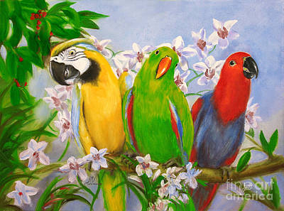 Painting - The Three Tenors by Stella Violano