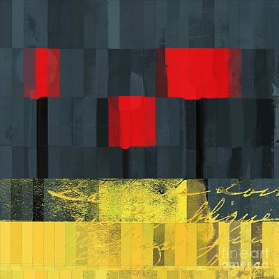 Digital Art - The Three Trees - J021580118  by Variance Collections