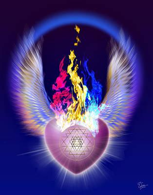 Digital Art - The Threefold Flame by Endre Balogh
