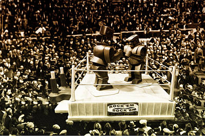 Rockem Sockem Robots Photograph - The Thrilla In Toyvilla by Bill Cannon
