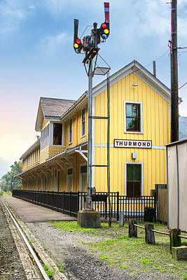 Thurmond Wall Art - Photograph - The Thurmond Depot by Mary Almond