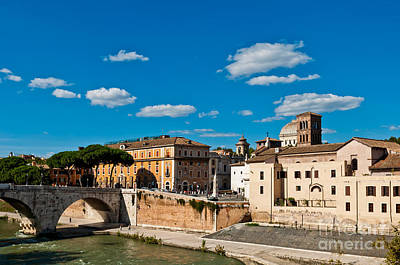 Tiber Island Wall Art - Photograph - The Tiber Island In Rome by Luis Alvarenga
