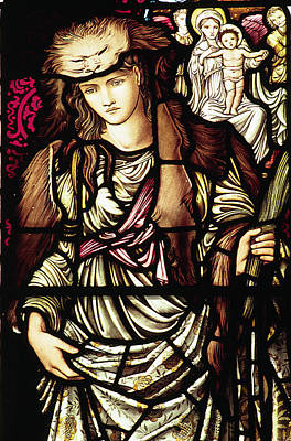 Pre-raphaelite Painting - The Tibertine Sibyl In Stained Glass by Philip Ralley