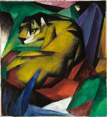 Franz Marc Painting - The Tiger by Franz Marc
