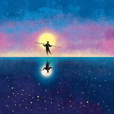 Painting - The Tightrope Walker  by Roberto Weigand