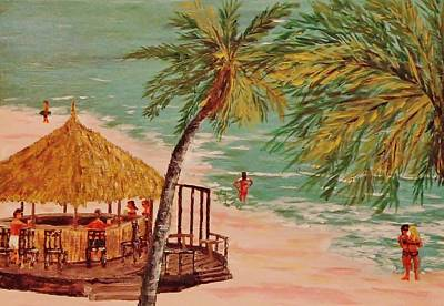 The Tiki Bar Is Open Art Print