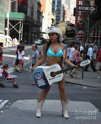 Photograph - The Times Square Naked Cowgirl by John Telfer