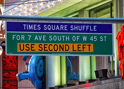 Photograph - The Times Square Shuffle by Jim Poulos