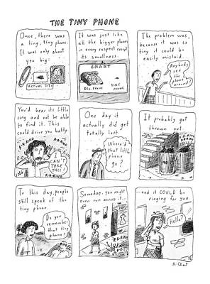 The Tiny Phone Art Print by Roz Chast
