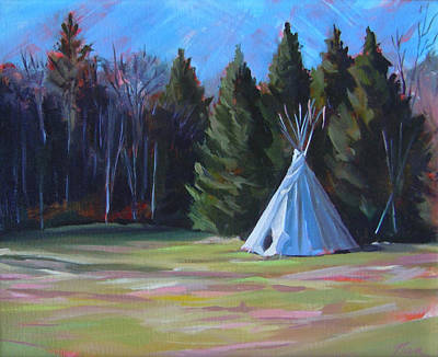 Painting - The Tipi by Nancy Griswold