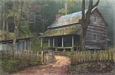 Grist Mill Mixed Media - The Tipton Place by Philip White