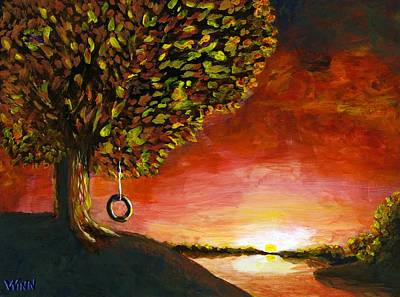 Painting - The Tire Swing by Brett Winn