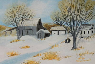 Wall Art - Painting - The Tire Swing by Lisa MacDonald