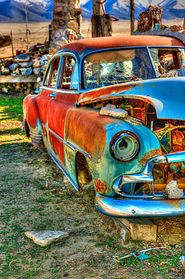 Photograph - The Tired Chevy 2 by Richard J Cassato