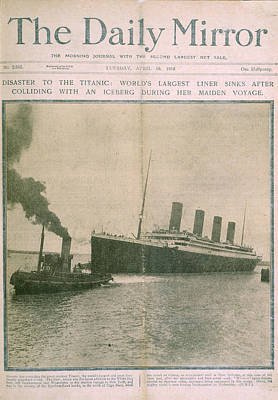 The Titanic Disaster Art Print by British Library