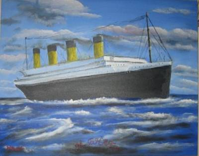 The Titanic Art Print by M Bhatt