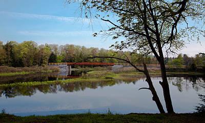 Trees Photograph - The Tobie Trail Bridge by David Patterson