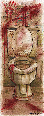 Prison Painting - The Toilet 2011 by David Shumate