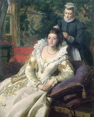 Hairdressing Painting - The Toilet by William Powell Frith
