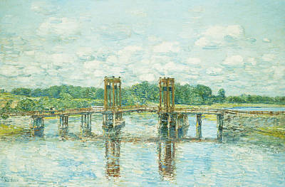 Connect Painting - The Toll Bridge New Hampshire by Childe Hassam