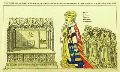 The Tomb And Portraits Of The Dutchess Of Northumberland Art Print by Litz Collection