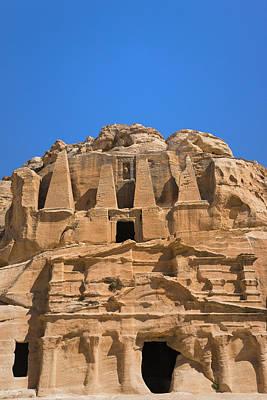 Petra Photograph - The Tomb Of Obelisks, Petra, Jordan by Keren Su
