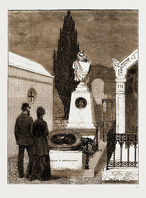 The Tomb Of The Gambetta Family In The Nice Cemetery Art Print