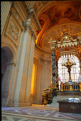 Framed Photograph - The Tombs At Les Invalides - Paris France - 01135 by DC Photographer