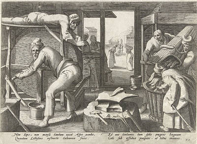 Emptying Drawing - The Tongue Sharpeners, Franco Estius by Franco Estius