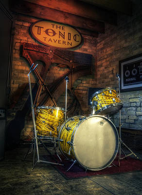Drum Photograph - The Tonic Tavern by Scott Norris