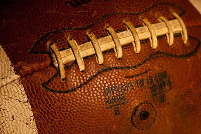 Footballs Closeup Photograph - The Tool Of The Gridiron by David Patterson