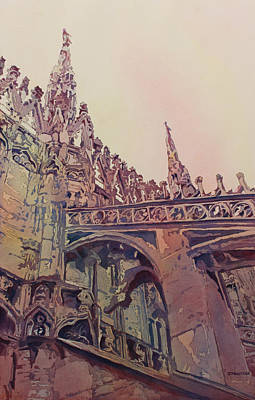 The Top Of Milan Art Print by Jenny Armitage