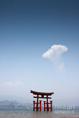 Floating Torii Photograph - The Torii At Noon  by Samantha Frey