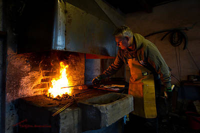 Log Cabins Photograph - The Torresta Blacksmith by Torbjorn Swenelius