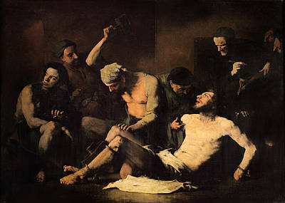 Painter Photograph - The Torture Of Alonso Cano 1601-67 C.1867 Oil On Canvas by Auguste Theodule Ribot