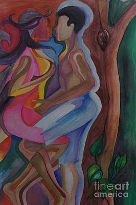 Sexual Human Nature Painting - The Touch by Ainsworth Mckend