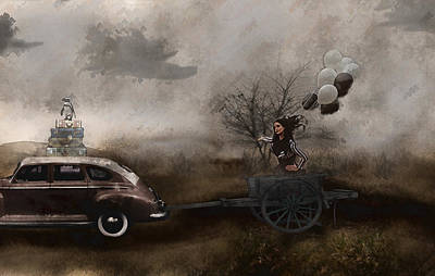 Surrealism Digital Art - The Tour by Galen Valle