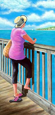 Cloudy Day Painting - The Tourist by Susan DeLain