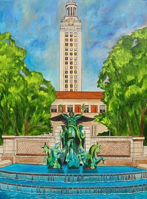 Painting - The Tower - Austin Texas by Manny Chapa