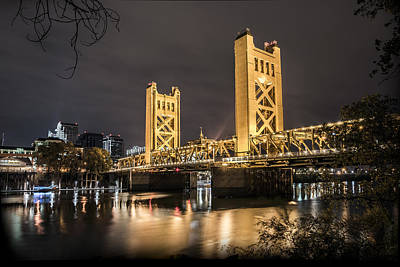 Photograph - The Tower Bridge In Sacramento California by Israel Marino