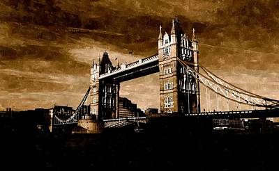 Painting - The Tower Bridge Of London by Florian Rodarte