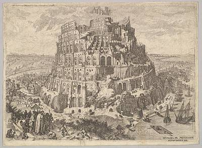 Anton Drawing - The Tower Of Babel by Anton Joseph von Prenner
