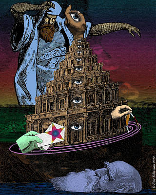 Digital Art - The Tower Of Babel by Eric Edelman